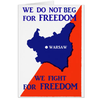 WWII Poland Fights for Freedom Card