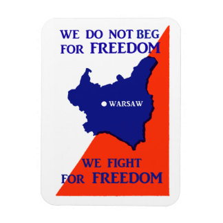 WWII Poland Fights for Freedom Rectangular Photo Magnet