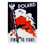 Wwii Poland, First To Fight Poster at Zazzle