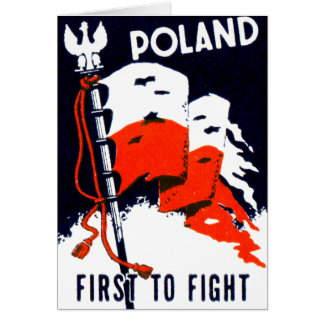 WWII Poland, First to Fight Poster Greeting Card