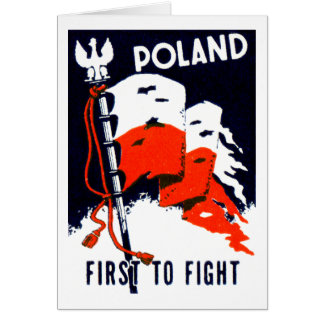 WWII Poland, First to Fight Poster Greeting Cards