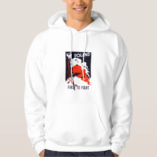 WWII Poland, First to Fight Poster Hoodie