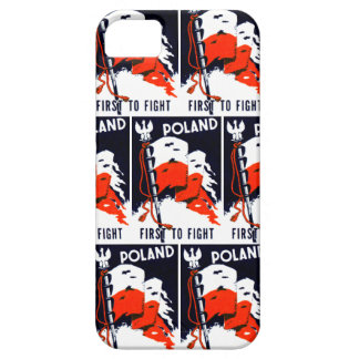 WWII Poland, First To Fight Poster iPhone SE/5/5s Case