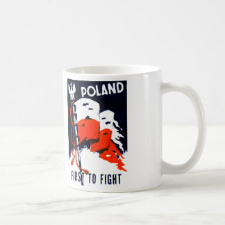 WWII Poland, First to Fight Poster Mugs
