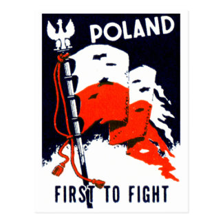 WWII Poland, First to Fight Poster Postcard
