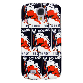 WWII Poland, First To Fight Poster Samsung Galaxy S4 Cover