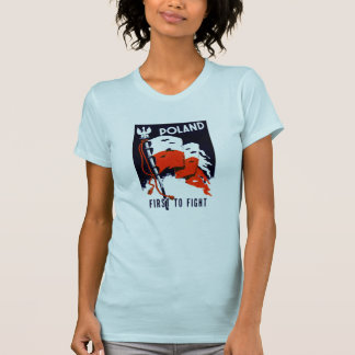 WWII Poland, First to Fight Poster T-Shirt
