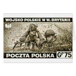 WWII Polish Army in England Greeting Card