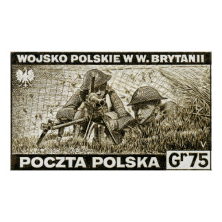 WWII Polish Army in England Poster