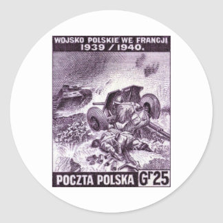 WWII Polish Army in France Classic Round Sticker