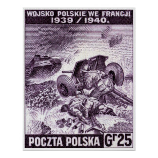 WWII Polish Army in France Poster