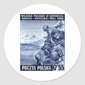 WWII Polish Army in Narvik, Norway Classic Round Sticker