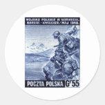 WWII Polish Army in Narvik, Norway Round Sticker