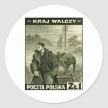 WWII Polish Home Army Classic Round Sticker