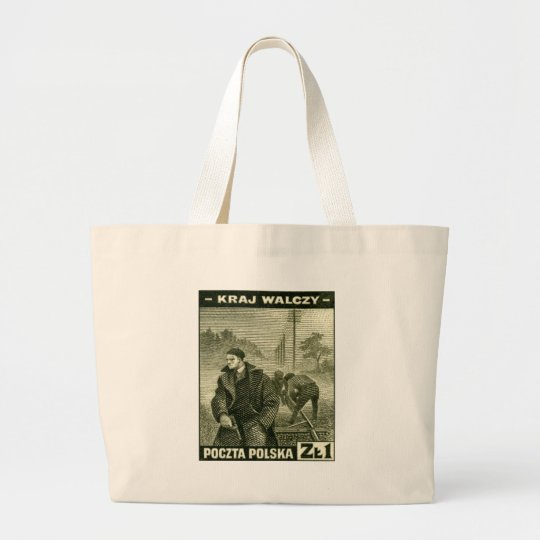 WWII Polish Home Army Large Tote Bag