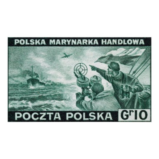 WWII Polish Merchant Navy Poster