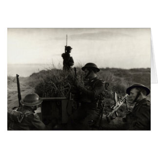 WWII Polish soldiers guard English Coast Greeting Cards