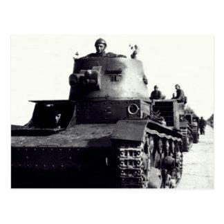 WWII Polish Tanks Postcards