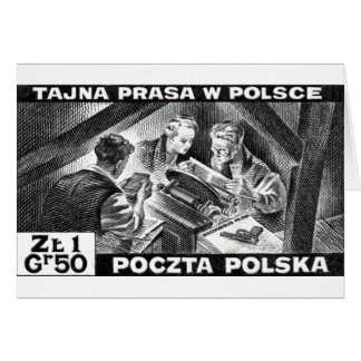 WWII Polish Underground Press Greeting Cards