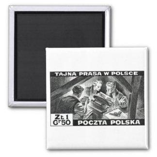 WWII Polish Underground Press Fridge Magnet