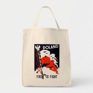WWII Polonia, primero luchar el poster Bolsas