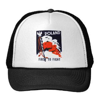 WWII Polonia, primero luchar el poster Gorros