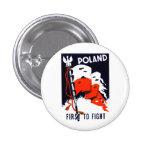 WWII Polonia, primero luchar el poster Pin Redondo 2,5 Cm