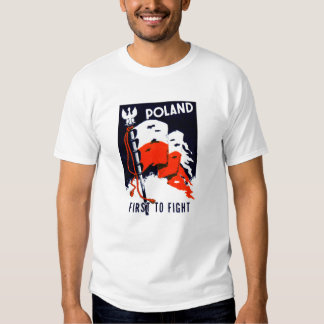 WWII Polonia, primero luchar el poster Playera