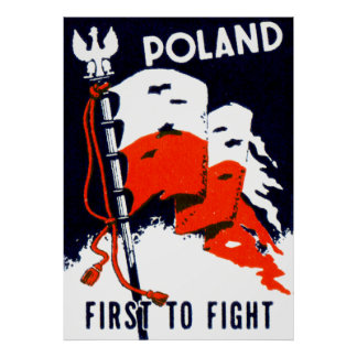 WWII Polonia, primero luchar el poster Póster