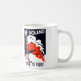 WWII Polonia, primero luchar el poster Tazas De Café