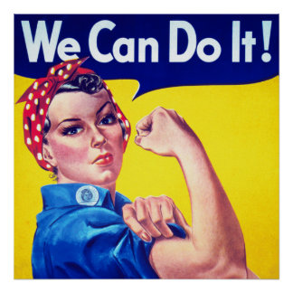 WWII Propaganda We Can Do It Poster