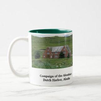 WWII Radio Station, Dutch Harbor, AK Two-Tone Coffee Mug