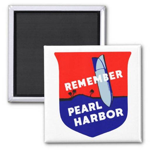WWII recuerdan el Pearl Harbor Imán Cuadrado