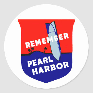 WWII recuerdan el Pearl Harbor Pegatina Redonda