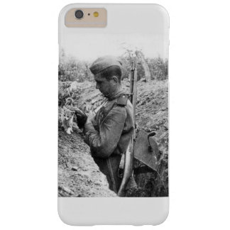 WWII Red army soldier with kitten Barely There iPhone 6 Plus Case