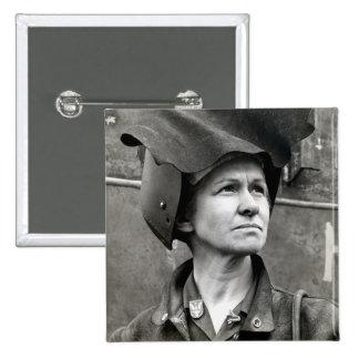 WWII Rosie el remachador Pin Cuadrada 5 Cm