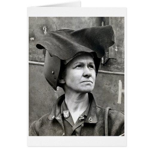 WWII Rosie el remachador Tarjeta De Felicitación