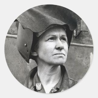 WWII Rosie the Riveter Classic Round Sticker