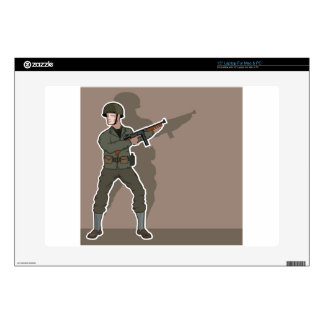"WWII soldier 15"" Laptop Skins"