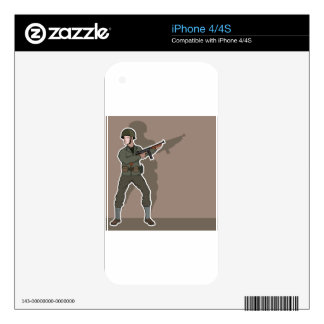 WWII soldier iPhone 4S Skin