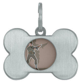 WWII soldier Pet Name Tag