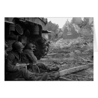 WWII Soldiers and Weapons by Burned Out Tank Card
