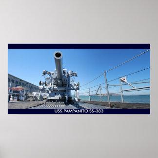 WWII Submarine USS PAMPANITO SS-383 Poster