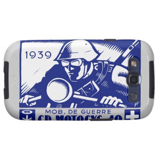 WWII Swiss Motorcycle Company, azul Samsung Galaxy S3 Cárcasas