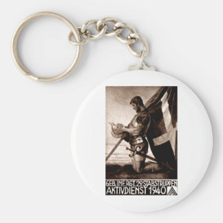 WWII Swiss Poster Key Chains