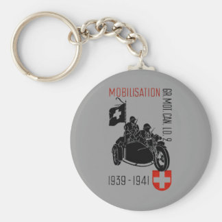 WWII Swiss Recon Motorcycle Keychains