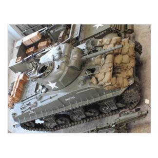 WWII Tanks Postcard