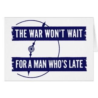 WWII The War Won't Wait Card