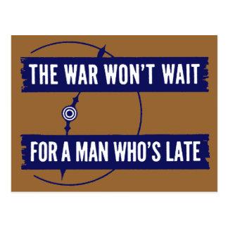 WWII The War Won't Wait Postcard