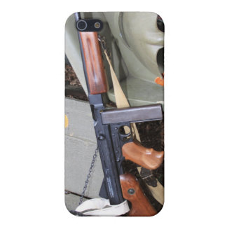 WWII Thompson Leaning On A Jeep Fender Cover For iPhone SE/5/5s
